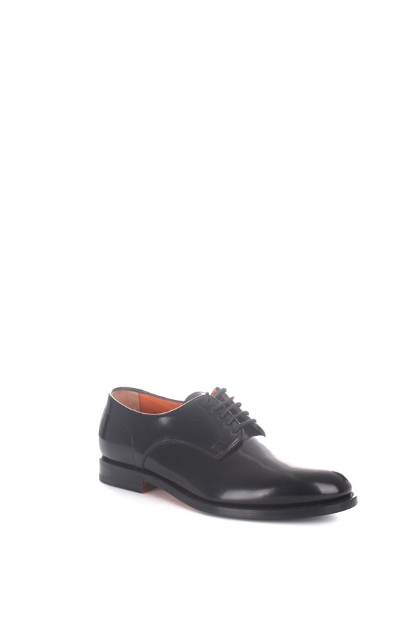 Santoni lace-up shoes Black