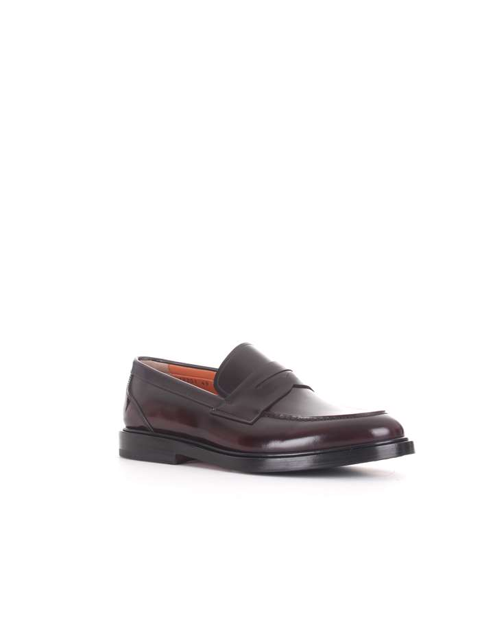 Santoni Loafers Red