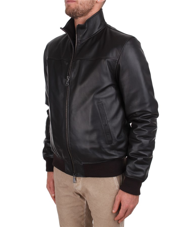 Orciani Leather Jackets Brown