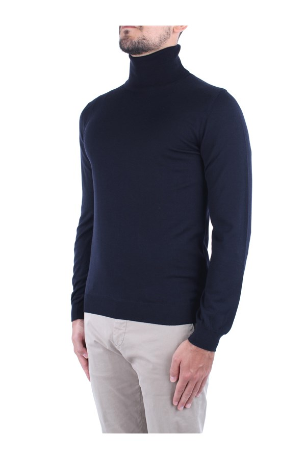 Zanone High Neck  Blue