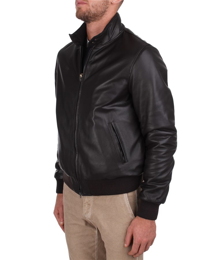 Broos Leather Jackets Brown