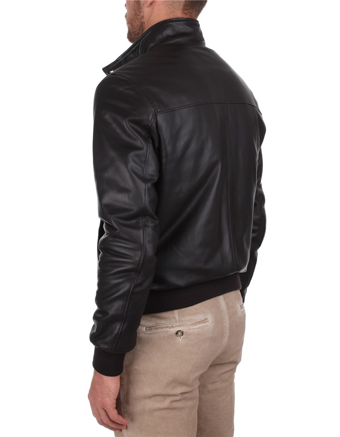 Broos Outerwear Leather Jackets Man U10M0011 3