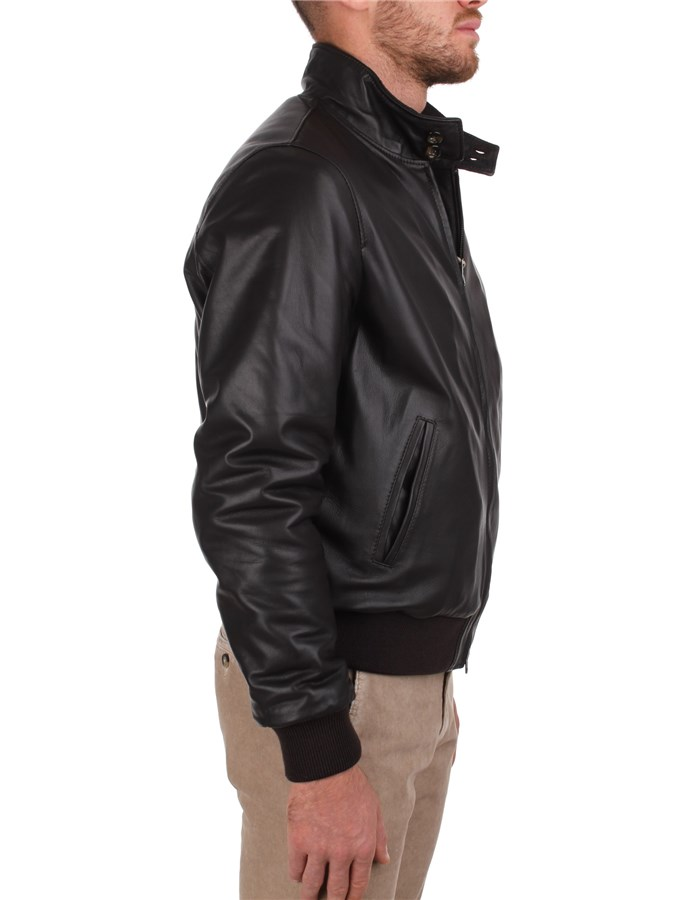 Broos Outerwear Leather Jackets Man U10M0011 7