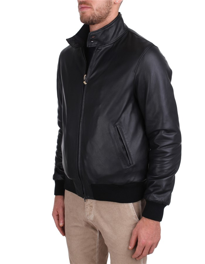 Broos Leather Jackets Black