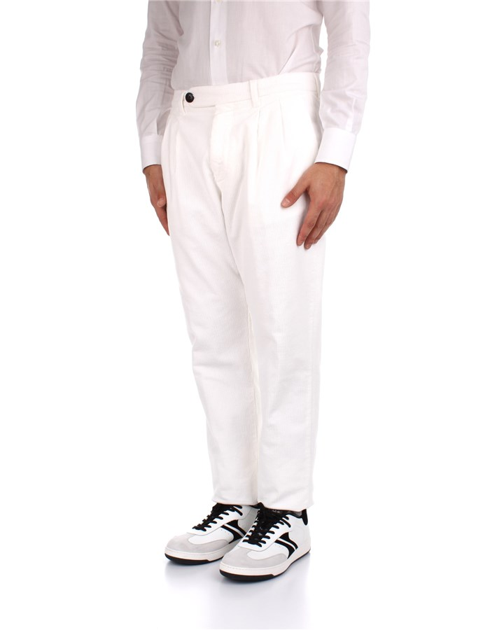Eleventy Trousers White