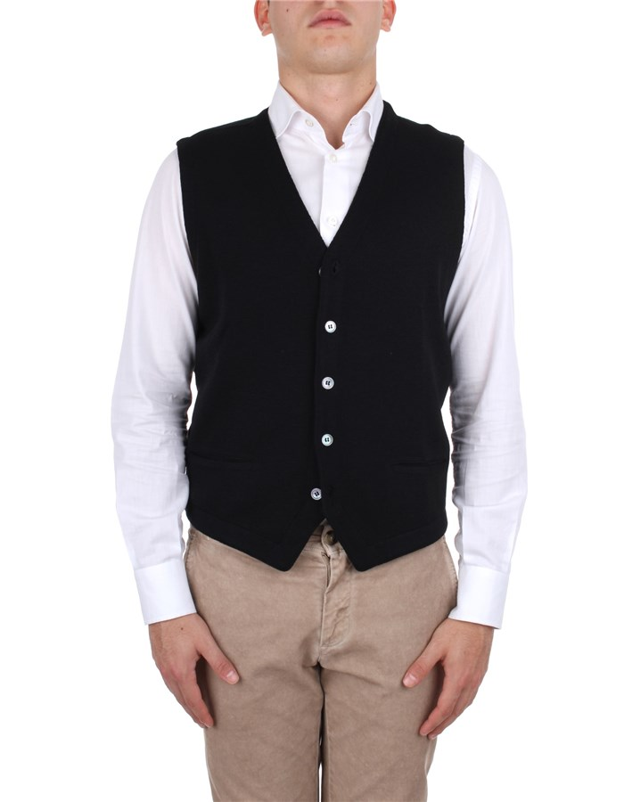 La Fileria Knitted vest Black