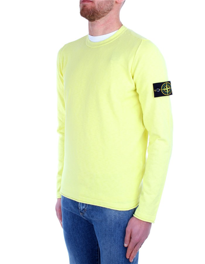 Stone Island Sweaters Yellow