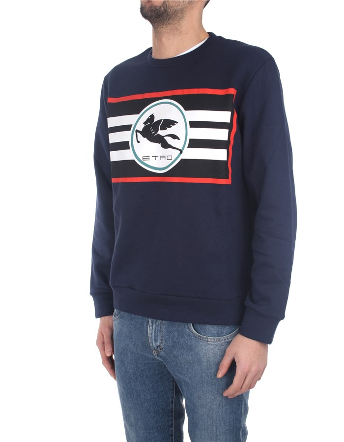 Etro Sweatshirts Blue