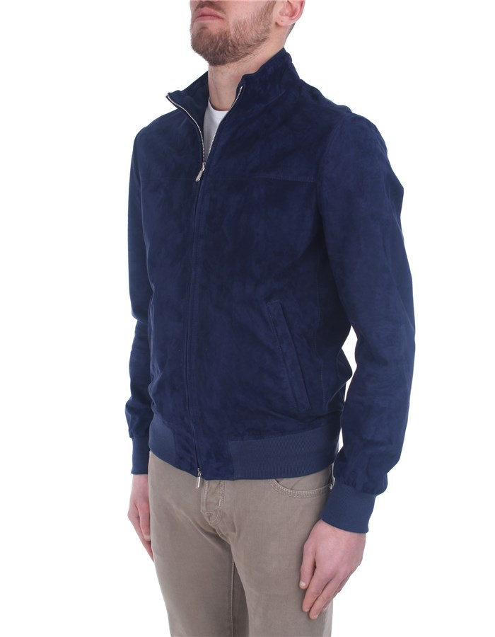 Enrico Mandelli Leather Jackets Blue