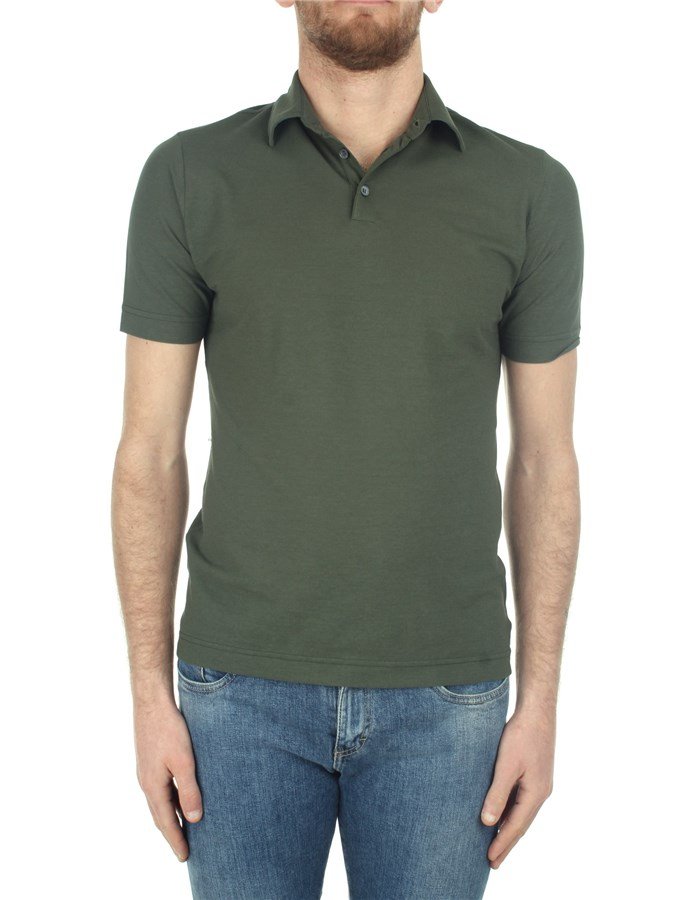 Zanone Short sleeves Green