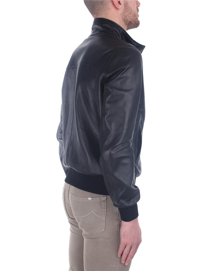 Broos Outerwear Leather Jackets Man U10M0011 6