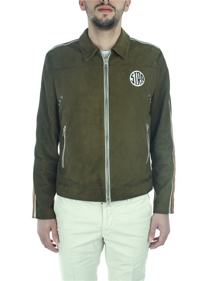 S.t.r.a. Jackets And Jackets Green