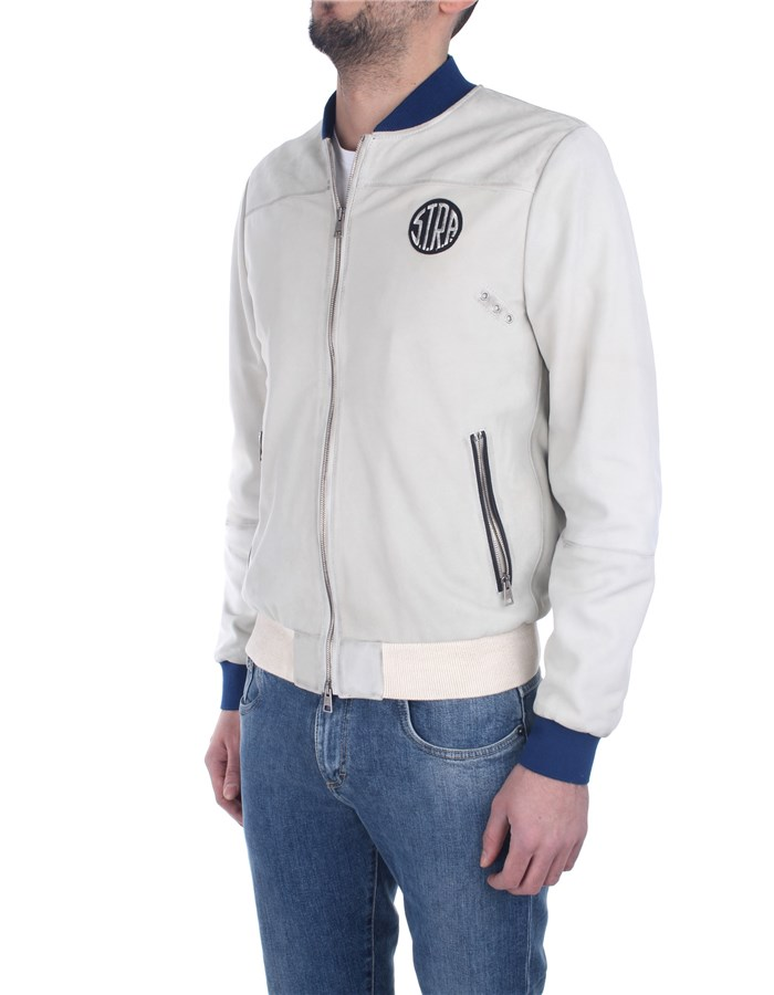 S.t.r.a. Jackets And Jackets White