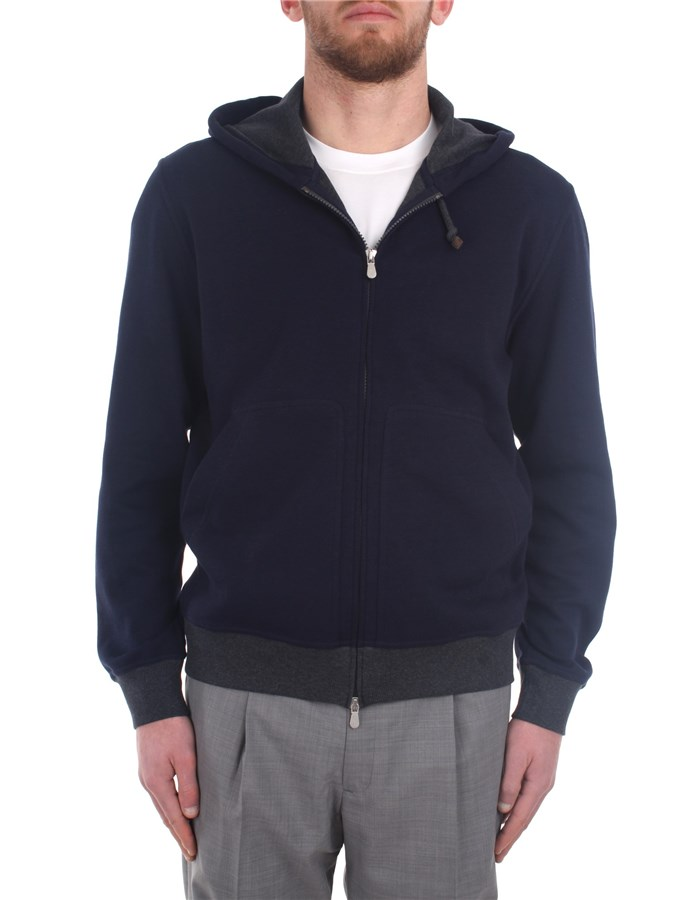 Brunello Cucinelli Sweatshirts Blue
