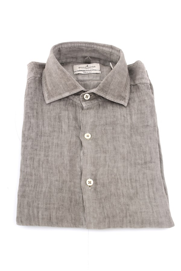 Brooksfield Shirts Beige