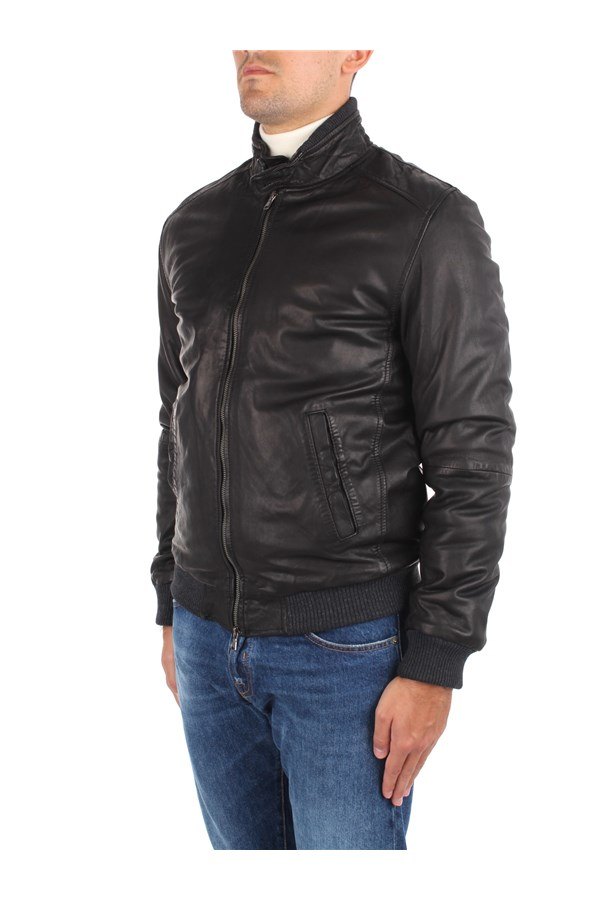 Andrea D'amico Leather Jackets Black