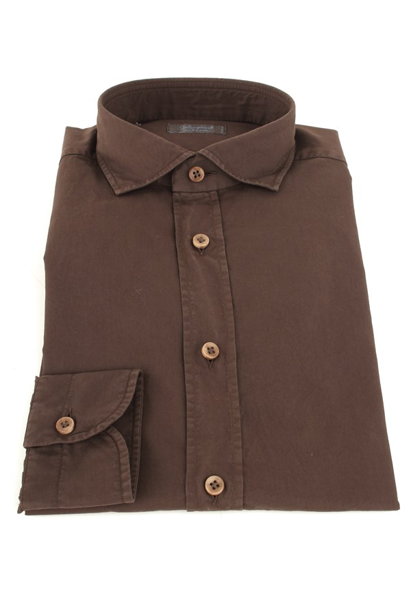 Camiceria Giampaolo Casual Brown
