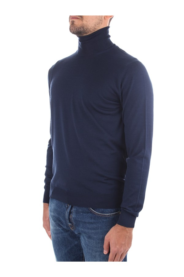 Drumohr High Neck  Blue
