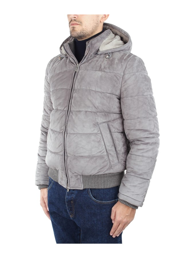 Enrico Mandelli Leather Jackets Grey