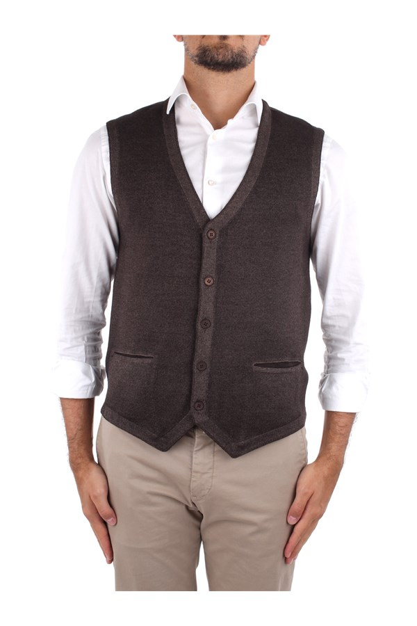 La Fileria Knitted vest Brown