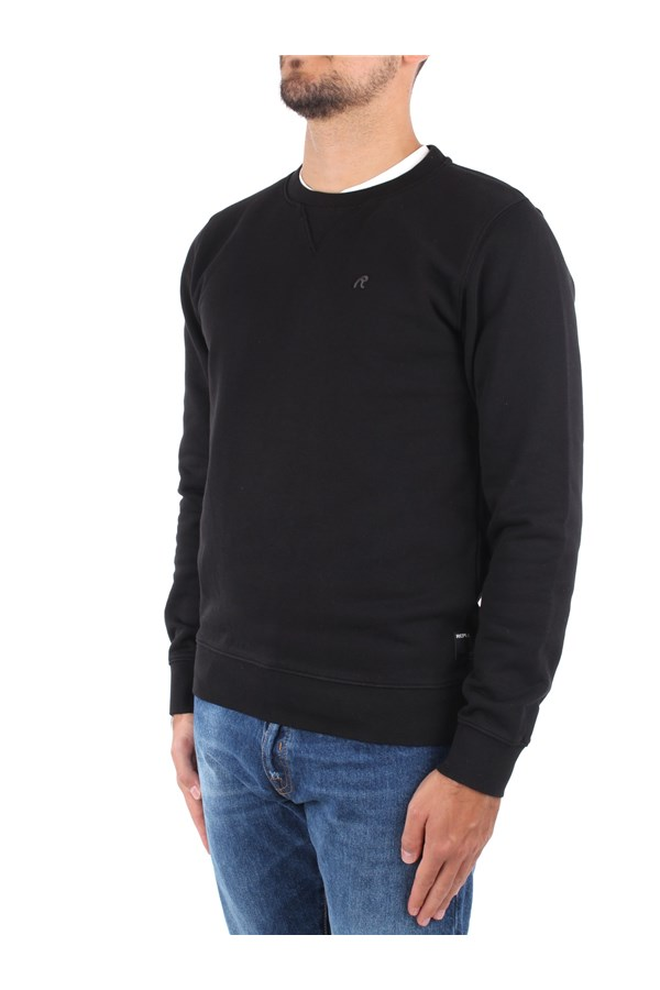 Replay Crewneck  Black