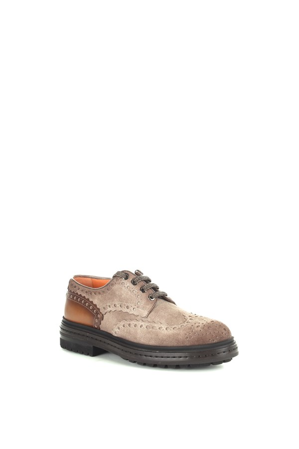 Santoni Derby Brown
