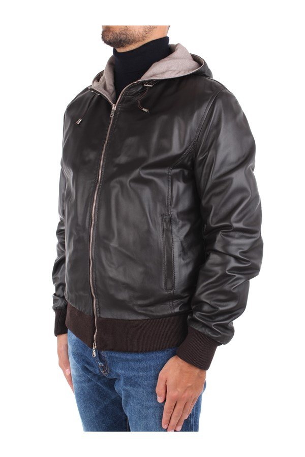 Barba Leather Jackets Brown