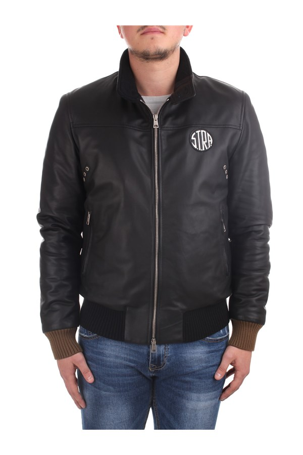S.t.r.a. Leather Jackets Black