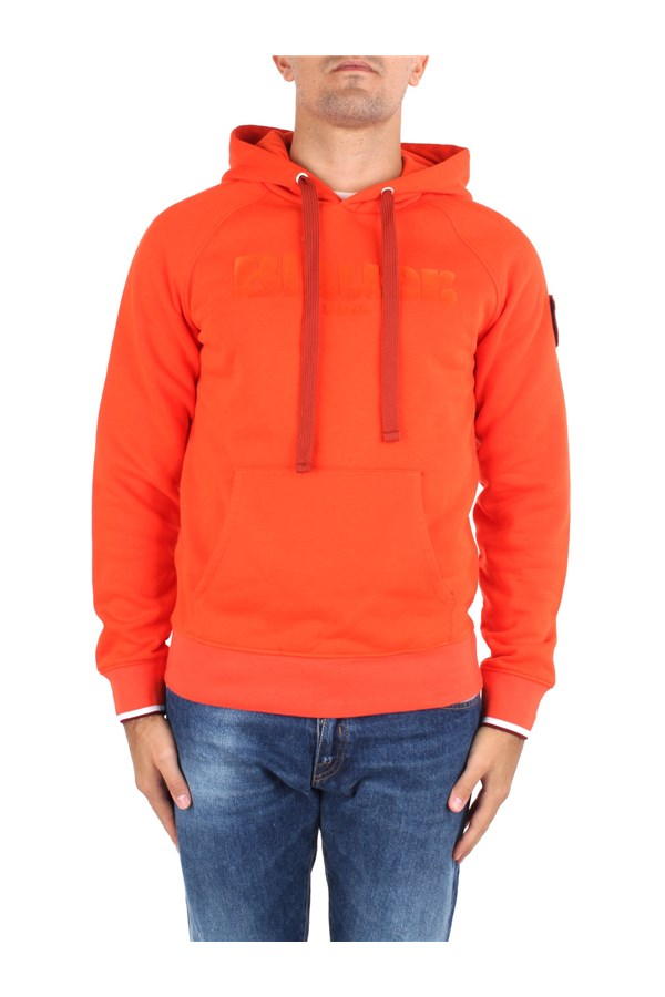 Blauer Sweatshirts Orange