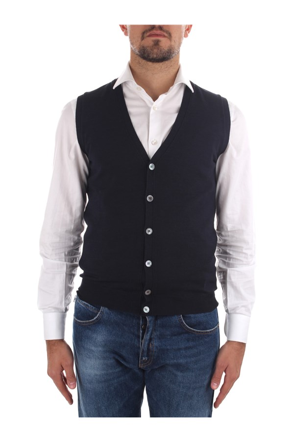 Zanone Knitted vest Blue