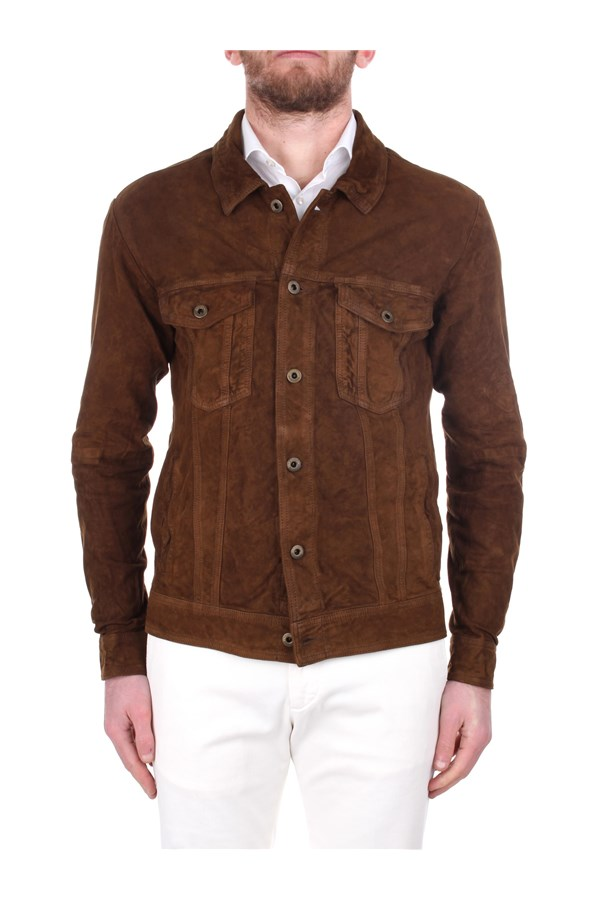 Andrea D'amico Leather Jackets DGU0394 Brown