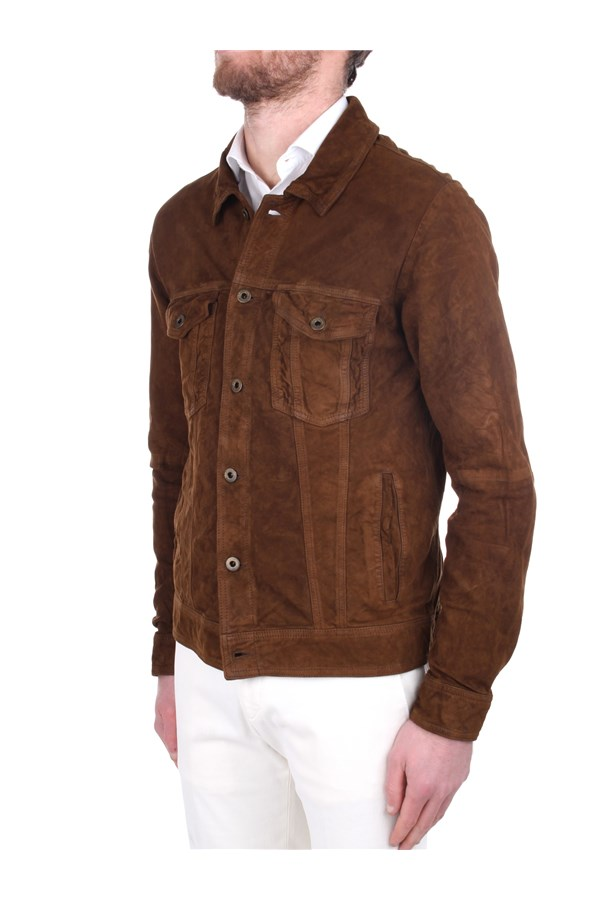 Andrea D'amico Leather Jackets Brown