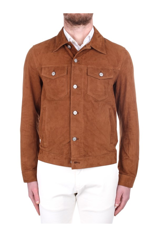 Brooksfield Leather Jackets Brown