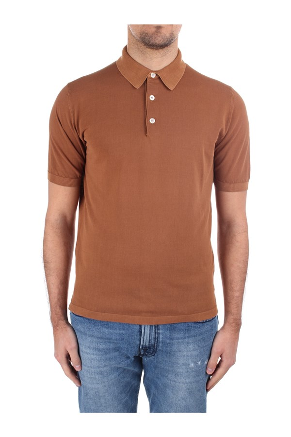 Eleventy Short sleeves Brown