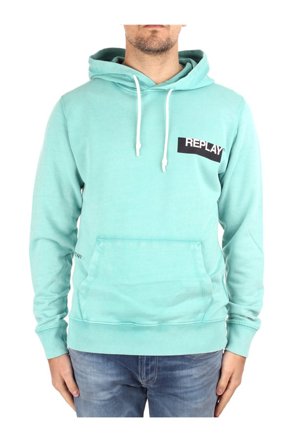 Replay Hoodies M3337 000 22738G Green