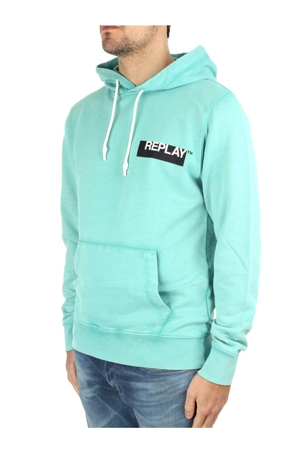 Replay Hoodies Green