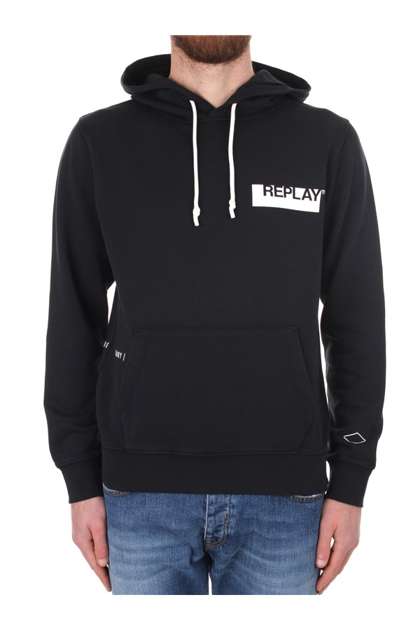 Replay Hoodies Black
