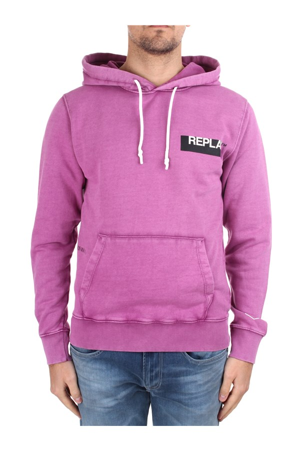 Replay Hoodies Violet
