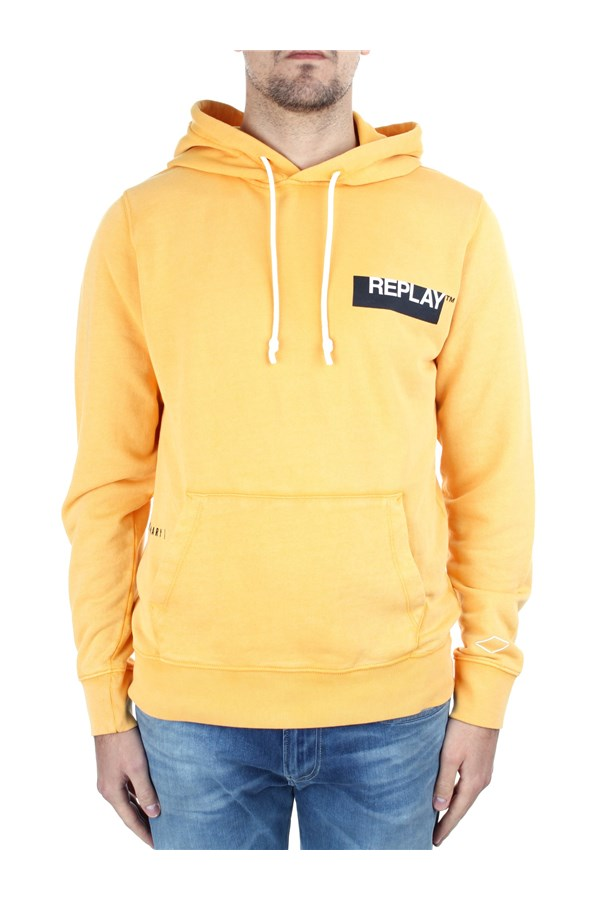Replay Hoodies M3337 000 22738G Orange