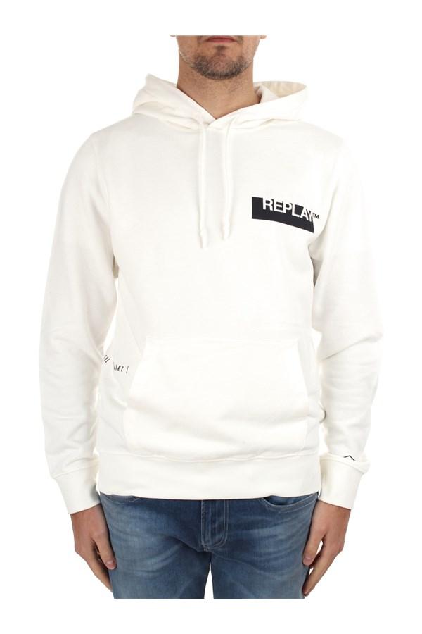 Replay Hoodies M3337 000 22738G White