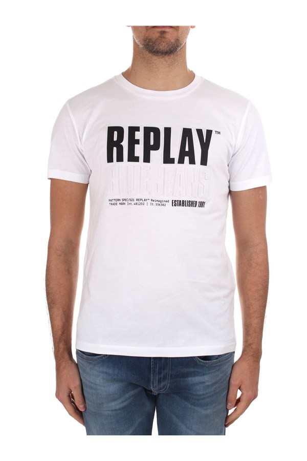 Replay Short sleeve M3413 000 22880 White