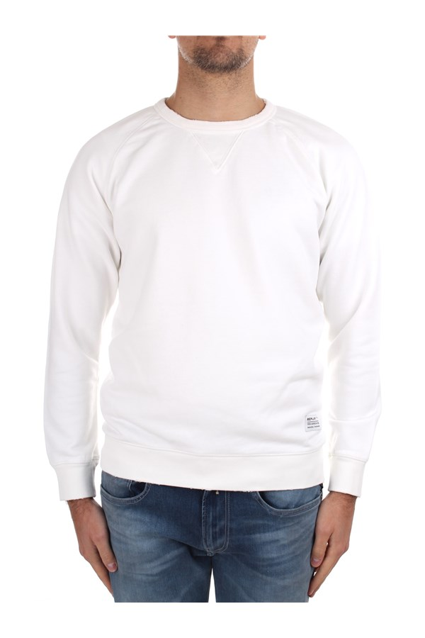 Replay Crewneck  White