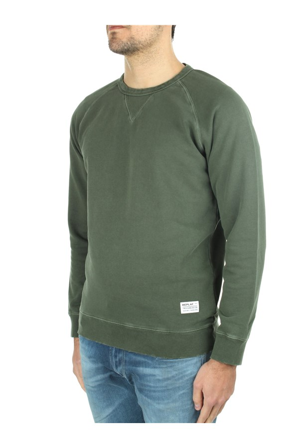 Replay Crewneck  Green