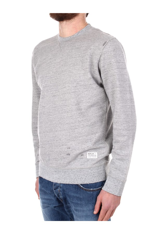 Replay Crewneck  Grey