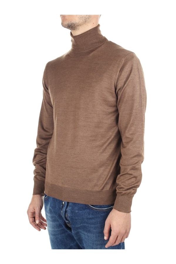 Tagliatore High Neck  Brown