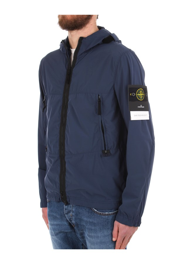 Stone Island Windbreakers Blue