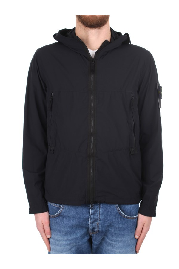 Stone Island Windbreakers Black