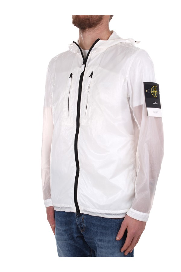 Stone Island Windbreakers White