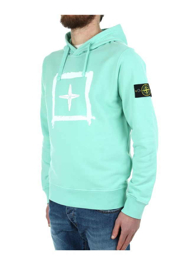 Stone Island Hoodies Green