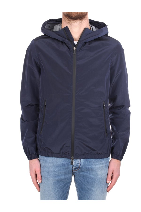 Herno Windbreakers Blue